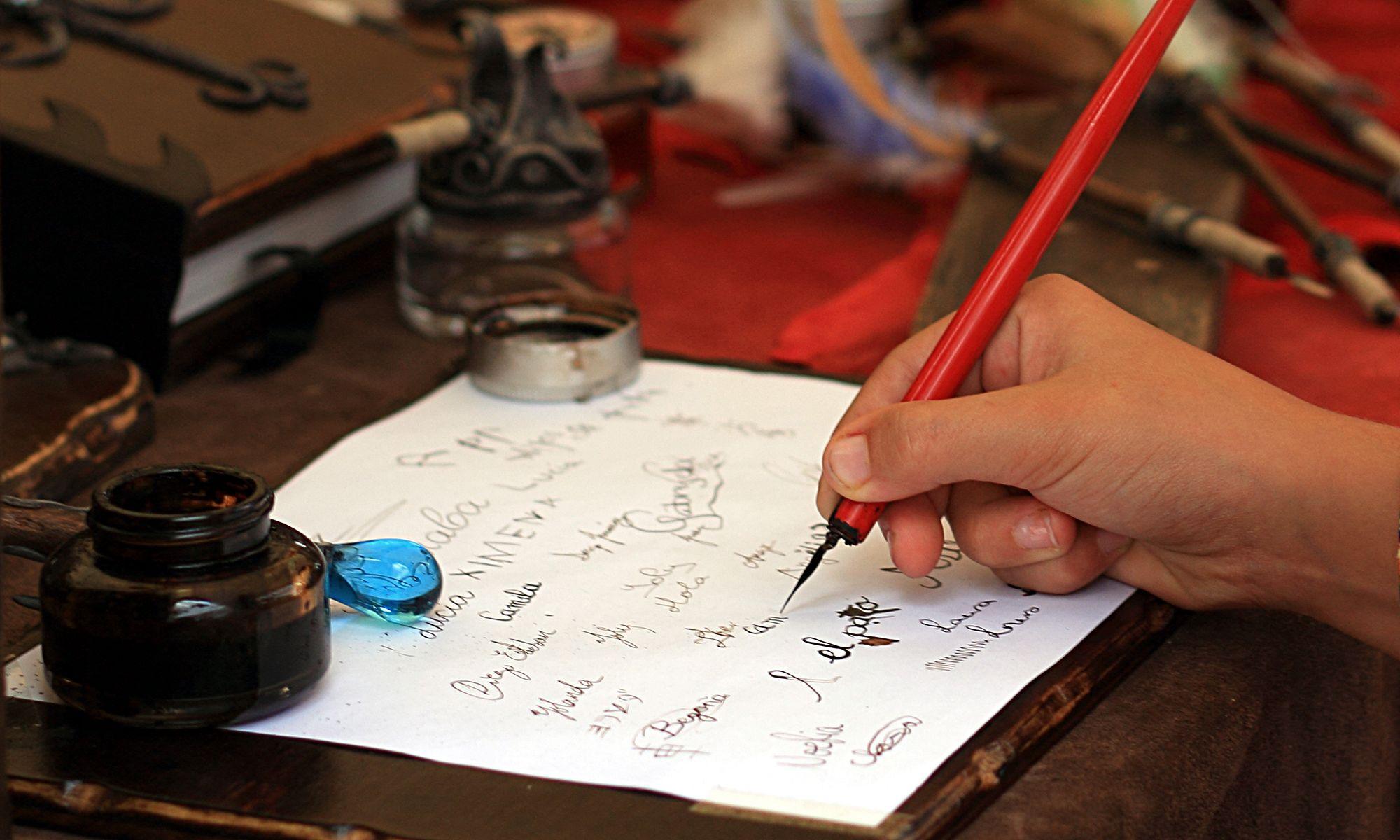 Ejercicio de caligrafía