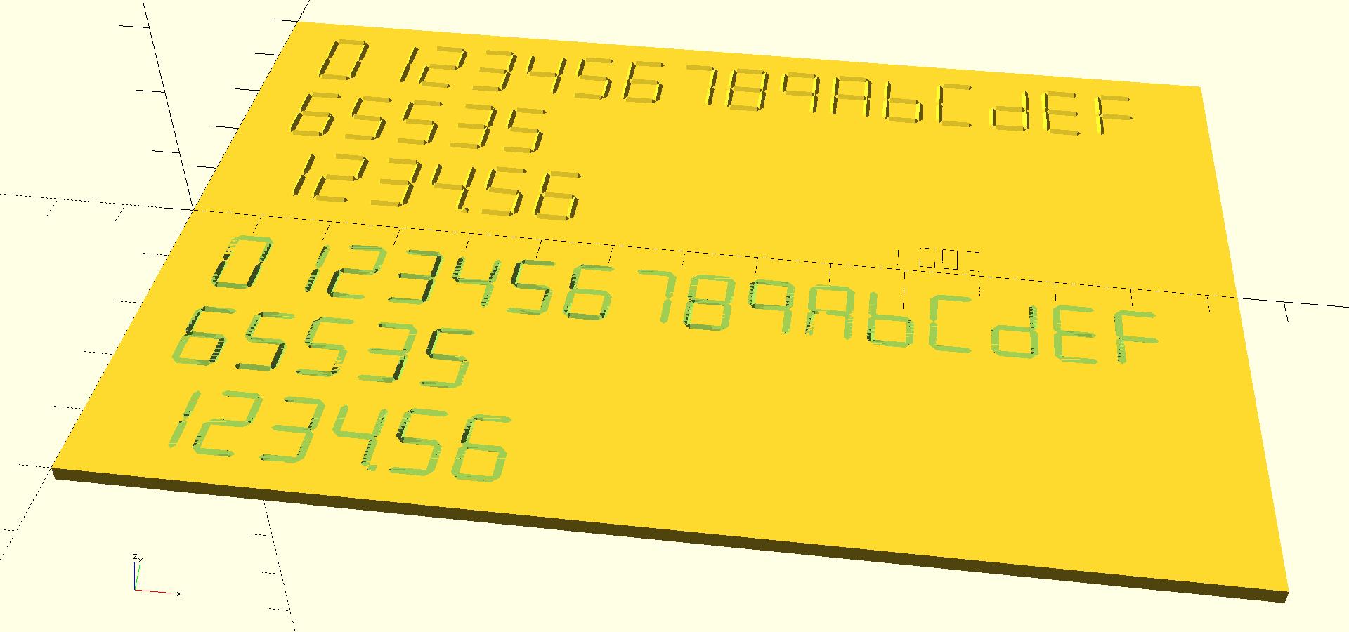 digit7.scad unittest
