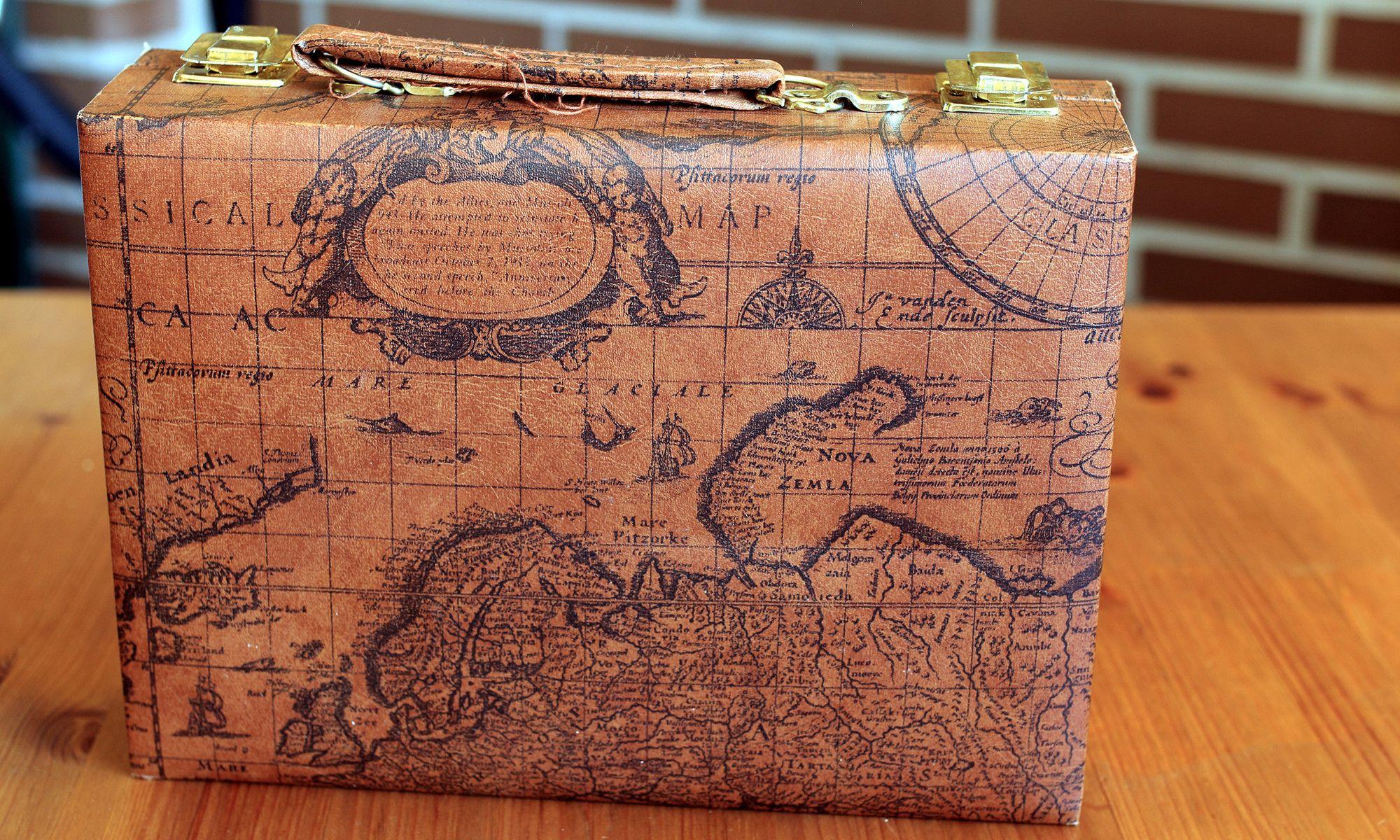 World Map Suitcase